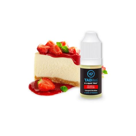 In Eliquid Strawberry strawberry cheesecake e liquid by tablites the electric tobacconist