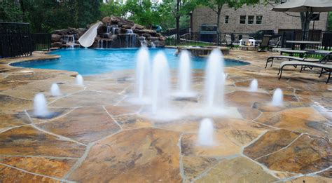 Backyard Splash Pad by Residential Splash Pads For Platinum Pools