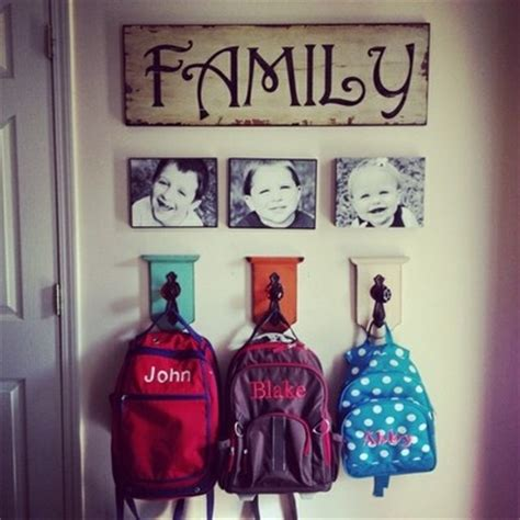 backpack rack for home 25 school bag storage ideas the organised housewife