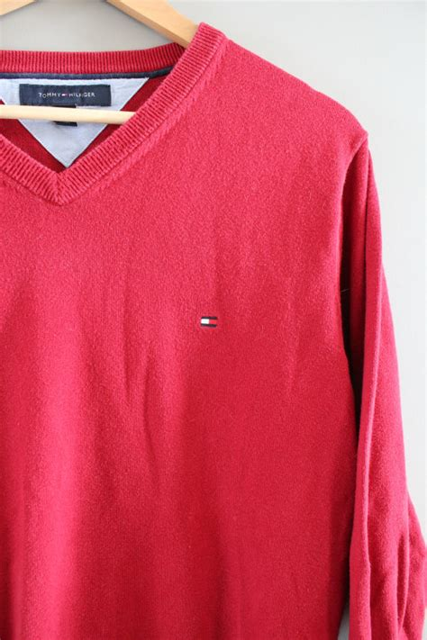 Sweater Unisex Polos Pink hilfiger sweater cotton sweater pullover