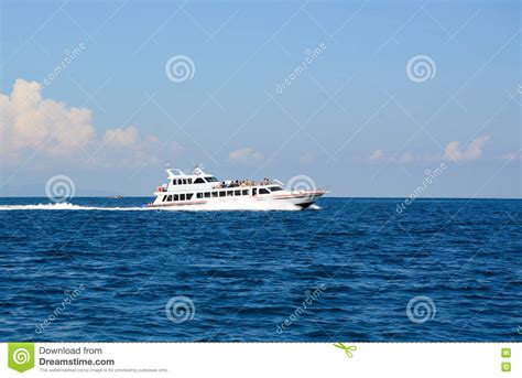 speed boat indonesia speedboat on the sea in gili meno indonesia editorial