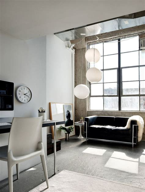 living room in brooklyn the le corbusier sofa in this brooklyn bushwick loft