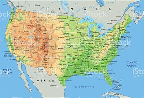 printable united states physical map hoch detaillierte physische karte der vereinigten staaten