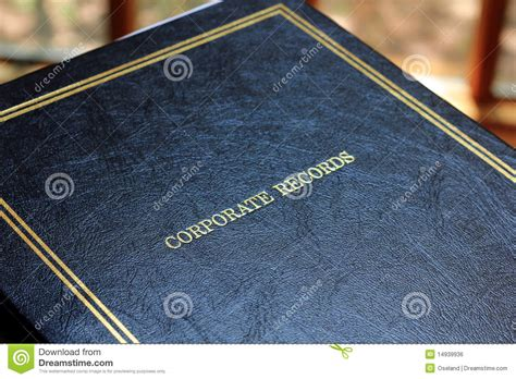 Blackbook Records Corporate Records Book Royalty Free Stock Image Image