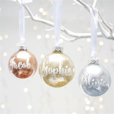 plain baubles to decorate personalised glitter bauble by twenty seven