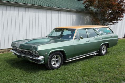 chevy bel air station wagon surf wagon green  sale