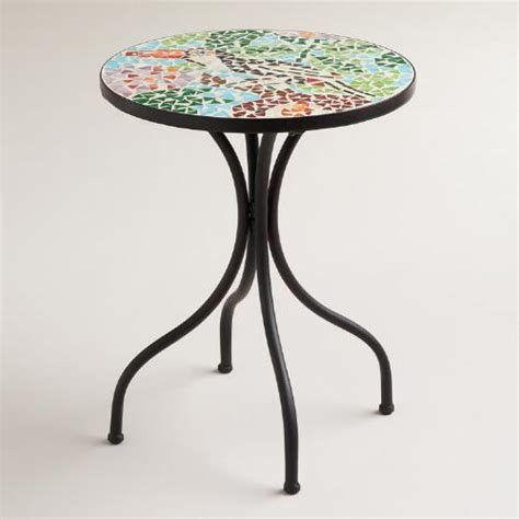 mosaic accent table toucan cadiz mosaic accent table world market