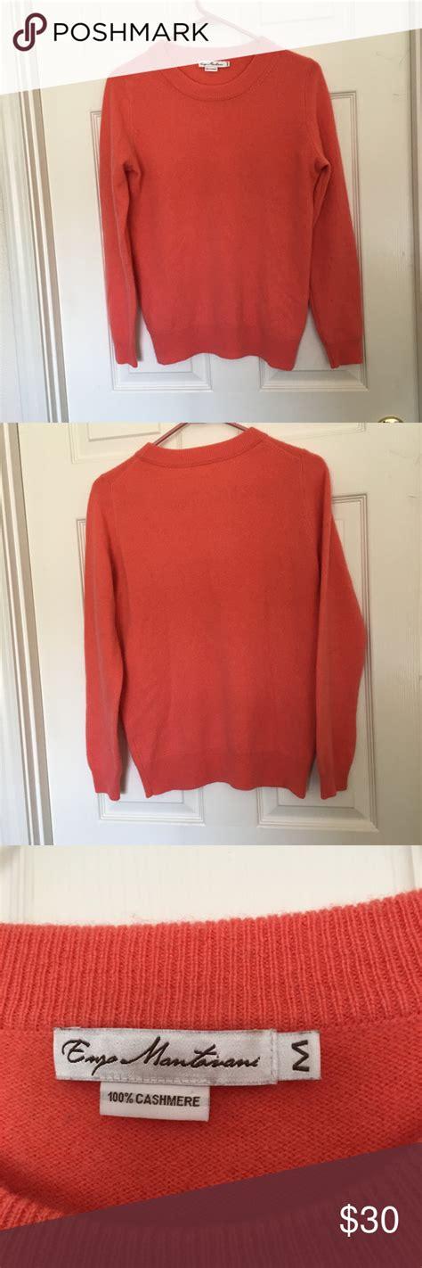 enzo mantovani enzo mantovani coral colored sweater stuff to
