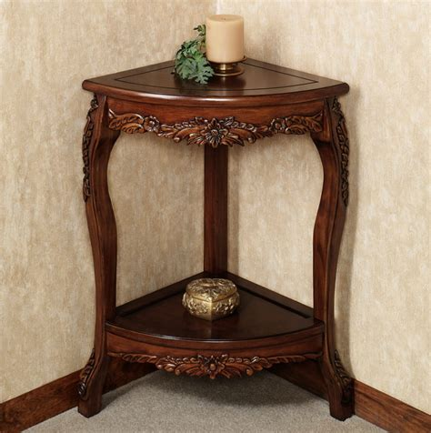 corner table ideas alluring small corner accent table decor ideas home
