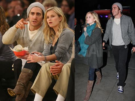 The Scoop On Reese And Jake by Photos Of Reese And Jake At A Lakers Popsugar