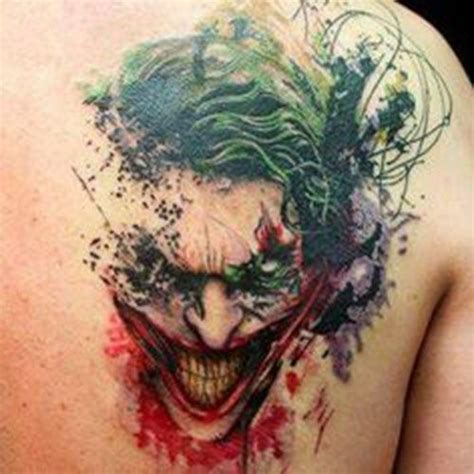 wildcard tattoo joker gotham joker and carrie
