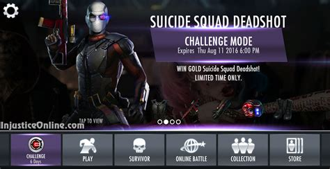 injustice gods among us ios challenge squad deadshot challenge for injustice mobile