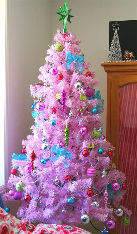 pink christmas tree decorations car interior design