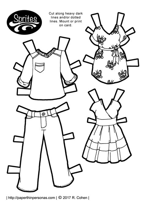printable paper doll dresses clothing archives paper thin personas