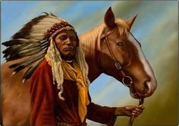 imagenes del indio rojas indio piel roja y caballo de norteam 233 rica l 225 mina 45x30
