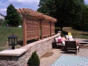 sichtschutz stellwand terrasse cedar privacy screen modern patio st louis by