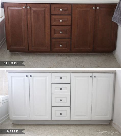 How To Repaint Cabinet Doors How To Paint Cabinets Without Removing Doors House Mix