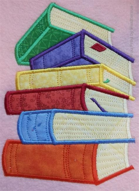 exquisite stitching with multi books bookworm five design set machine applique embroidery