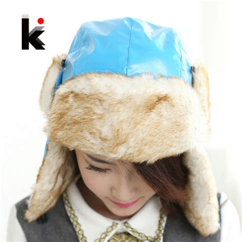 free shipping winter cap with ear flaps aviator hat
