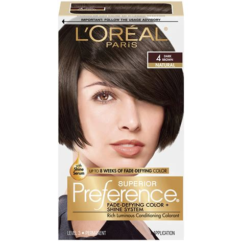 loreal preference hair color l oreal superior preference 5 medium brown 1