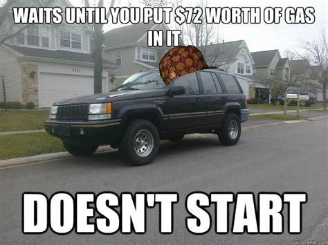 Low Car Meme - late for work low fuel scumbag car quickmeme