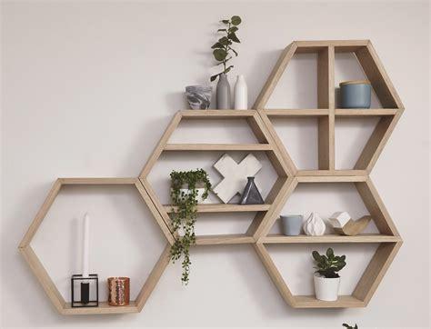 d i y honeycomb floating wall shelves workshop