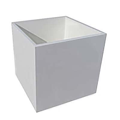 Planter Liner Plastic by 16 Quot Plastic Box Cube Pvc Plant Liner