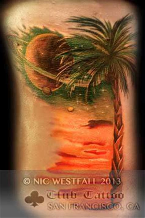 club tattoo sf nicwestfall saturn planets palm tree