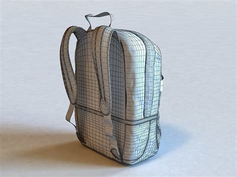 3d Backpack school backpack 3d model 3ds max files free