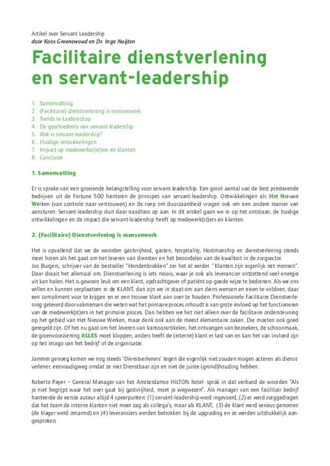 Servant Leadership Essay by White Green Paper Aaa A Juli 2015