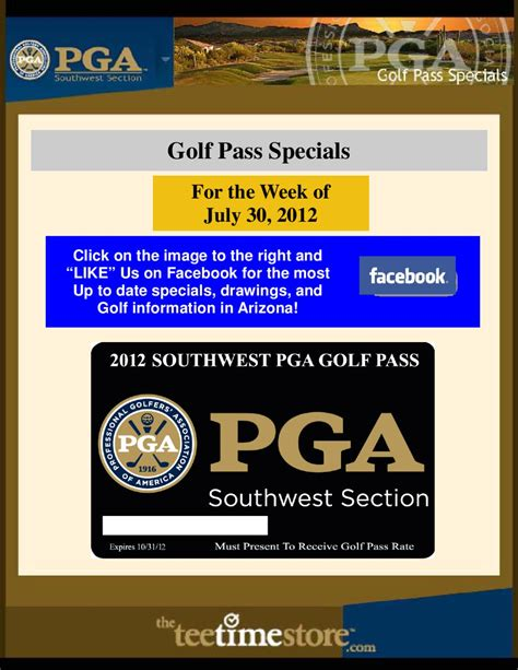 sw section pga 07 30 2012 golf pass specials by southwest section pga issuu