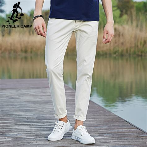 Cotton Pans 1 pioneer c casual cotton for 2017 new fashion brand slim fit