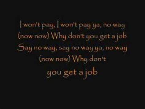 dont get a job the offspring why don t you get a job lyrics youtube