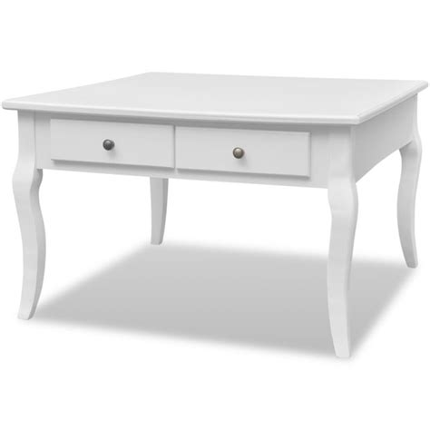 buy coffee table with drawers mdf wood square coffee table w 4 drawers in white buy