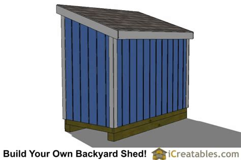 4x8 Lean To Shed by 4x8 Lean To Shed Plans The Low Wall Lean To Plans