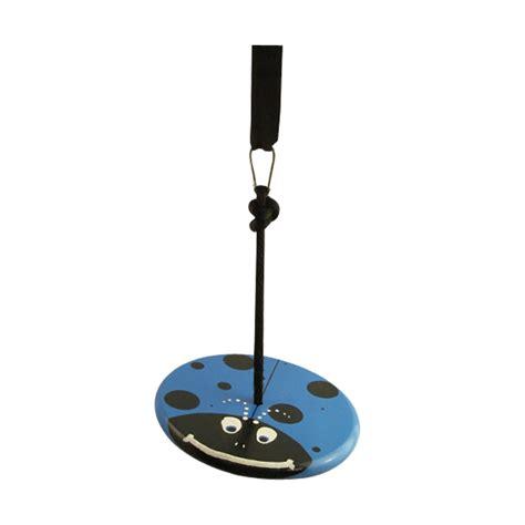 disc swings blue lady bug wood disc swing kit treeswingstore com