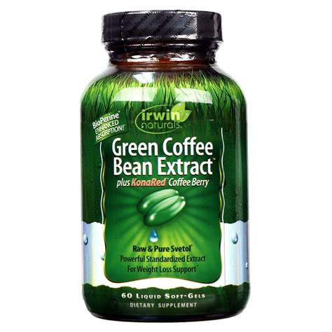 Green Coffee Bean Extract irwin naturals green coffee bean extract plus konared