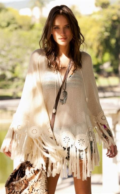 hippie look boho poncho dress boho chic pinterest boho ponchos