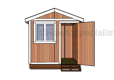 6x8 small garden shed plans howtospecialist how to build step by step diy plans