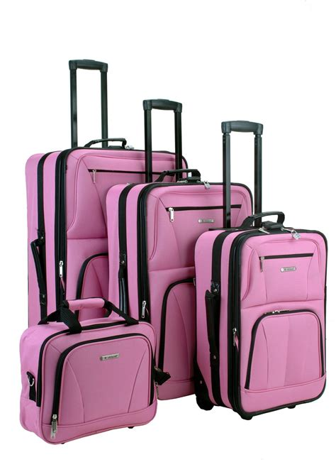 rockland deluxe 4 piece luggage set luggage pros