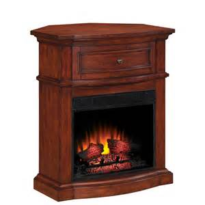 fireplace at lowes shop style selections 32 in empire cherry corner electric