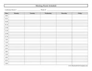 Conference room schedule business form template