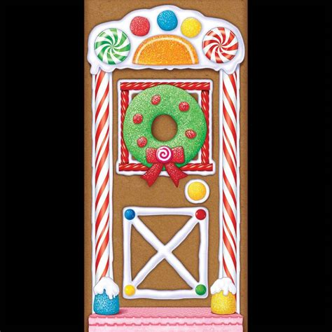 Gingerbread House Door Decorations by Gingerbread House Door Cover Poster Backdrop