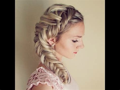 fishbone hair brsids an end off with knots how to dutch fishtail braid elsa hair youtube