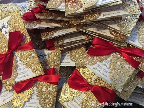 gold quinceanera themes lasercut wedding invitations love the red and gold