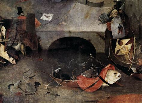 hieronymus bosch painter and 0300220146 the fish boat demon triptych of temptation of st anthony detail hieronymus bosch 1505 museu