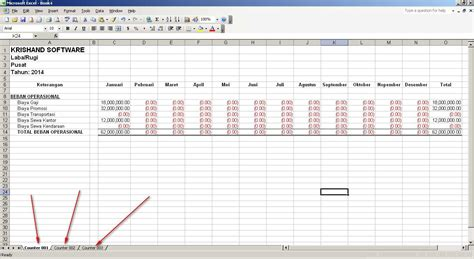 format laporan laba rugi excel software akuntansi indonesia download gratis