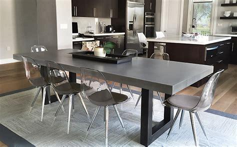 concrete kitchen table custom concrete kitchen dining tables trueform