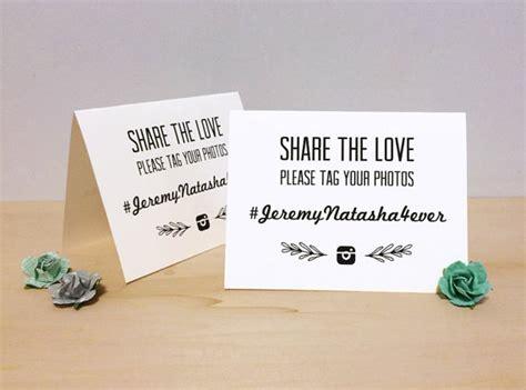Wedding Hashtag Cards by Instagram Wedding Hashtag Tent Card Custom Printable
