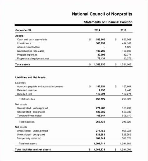 10 Non Profit Balance Sheet Template Excel Exceltemplates Exceltemplates Fiscal Report Template